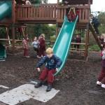Children enjoing jungle gym