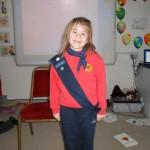 Orlaith celebrated Thinking Day