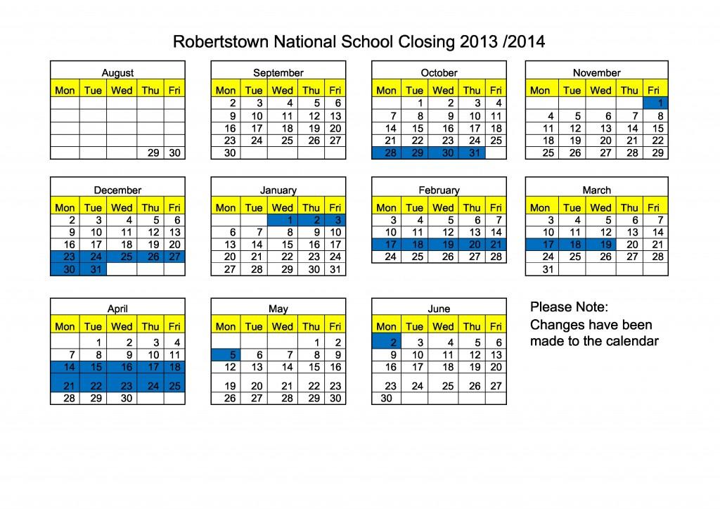 Calendar 13 14