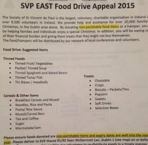 SVP Food List