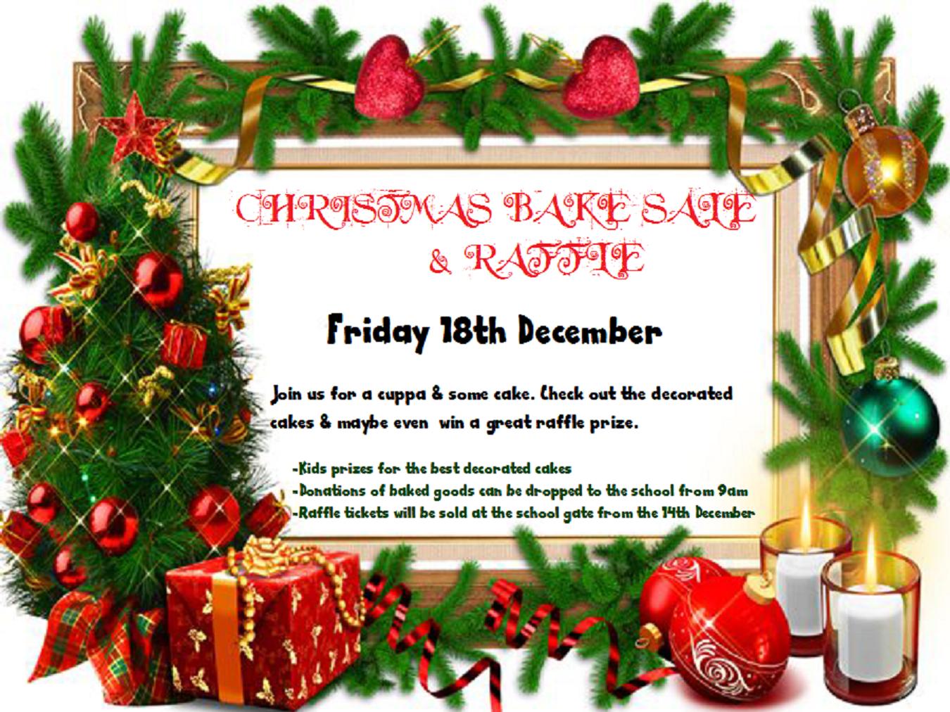 christmas bake raffle poster robertstown national school christmas bake raffle poster